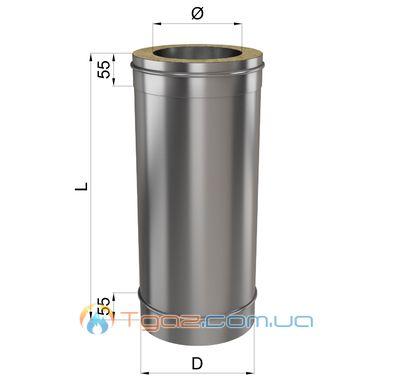 Труба L 1000 н/оц 0,8мм