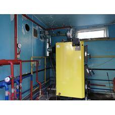 Монтаж котла на дровах 50 кВт